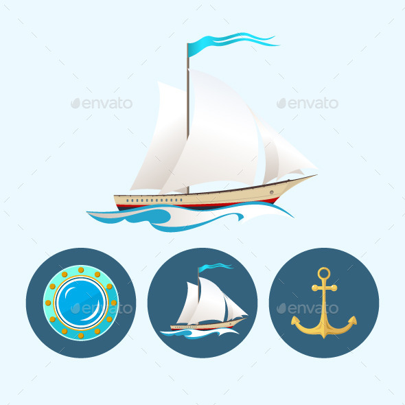 GraphicRiver Sailing Icons 9619012