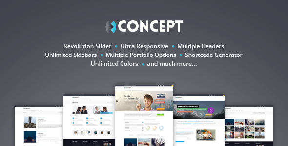 Concept Multi-Purpose Wordpress Theme