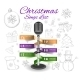Christmas Microphone Infographics - GraphicRiver Item for Sale