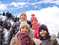 happy family in winter clothes outdoors - PhotoDune Item for Sale