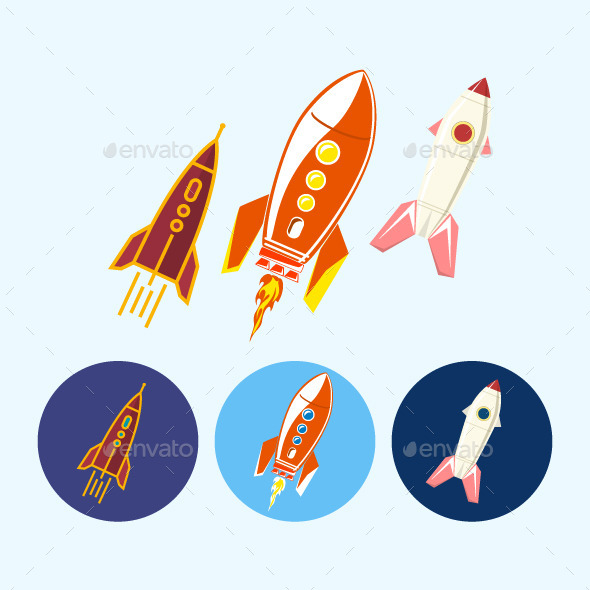 GraphicRiver Rocket Icons 9619103