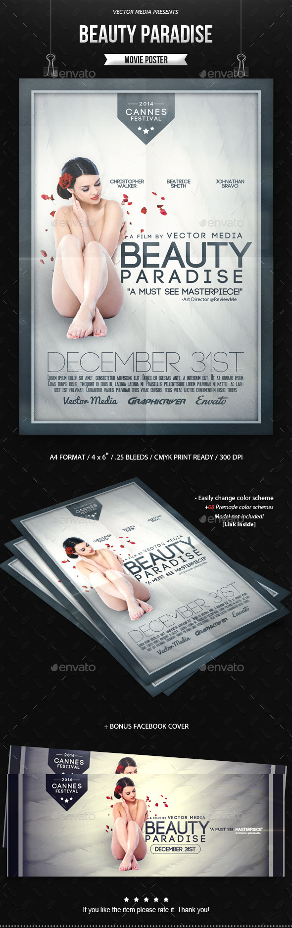 GraphicRiver Beauty Paradise Movie Poster 9619131