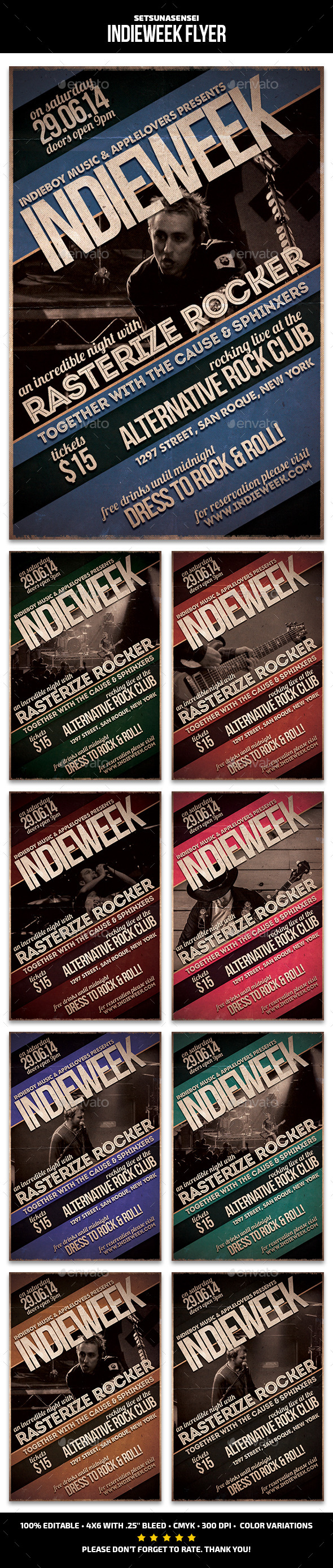 GraphicRiver Indie Week Flyer 9619280