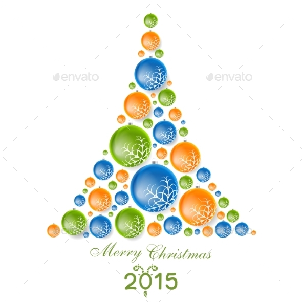 GraphicRiver Fir Tree from Christmas Decorations 9619337