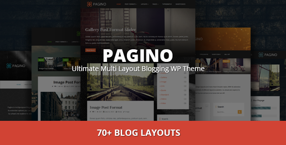 ThemeForest Pagino Ultimate Multi Layout Blogging WP Theme 9619343