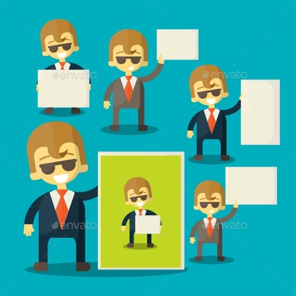 GraphicRiver Businessman Holding Blank Notes 9620019