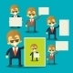 Businessman Holding Blank Notes - GraphicRiver Item for Sale