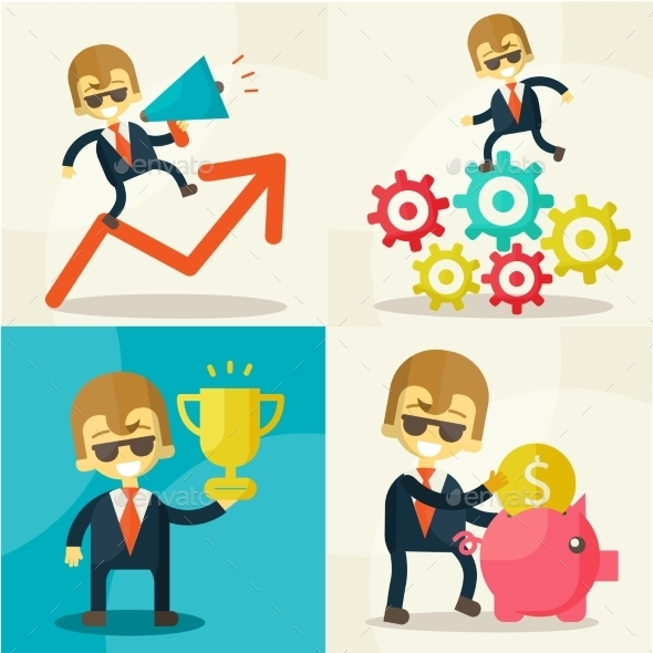GraphicRiver Businessman with Piggy Bank 9620081