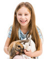 little girl with rabbits - PhotoDune Item for Sale