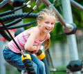 little girl on a playground - PhotoDune Item for Sale