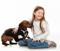 little girl with dog - PhotoDune Item for Sale
