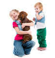 kids with dachshund - PhotoDune Item for Sale