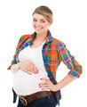 Pregnant woman on white - PhotoDune Item for Sale
