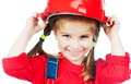 Little girl in red helmet - PhotoDune Item for Sale