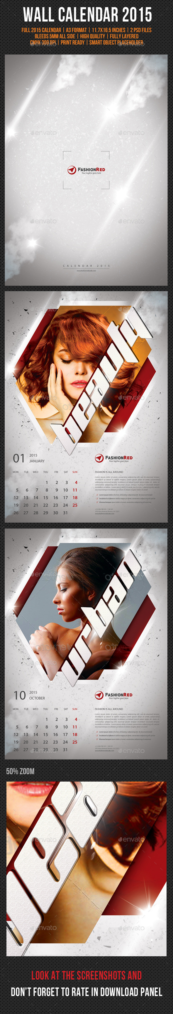 GraphicRiver Wall Calendar A3 2015 V03 9622936
