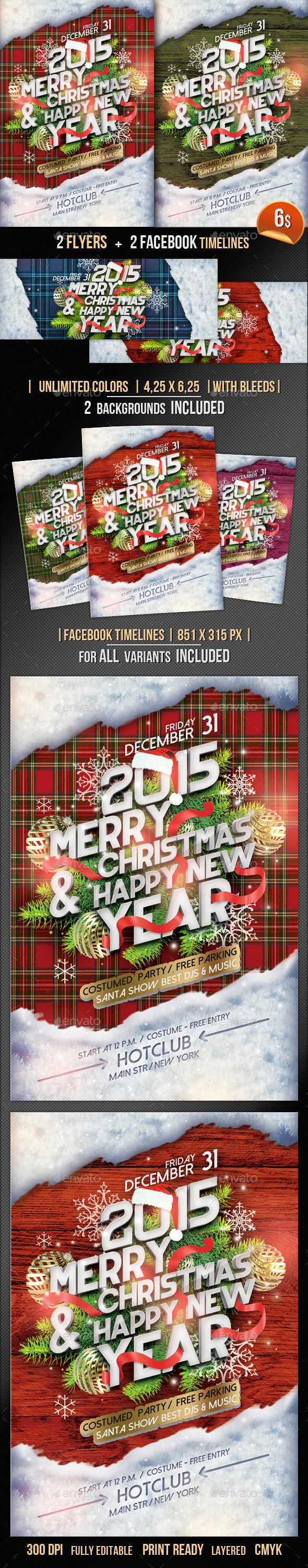 GraphicRiver Christmas Flyer & Fb Timeline 9623170