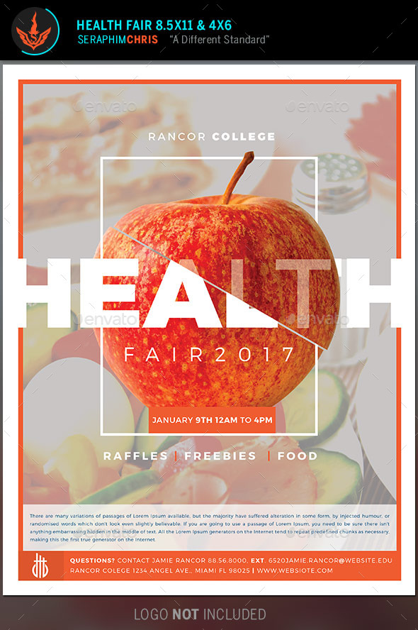 GraphicRiver Health Fair Flyer Template 9623293