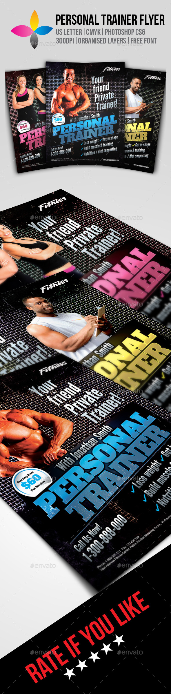GraphicRiver Personal Trainer Flyer 9623332