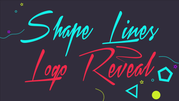 Shape Lines Logo Reveal