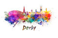 Derby skyline in watercolor - PhotoDune Item for Sale