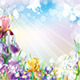 Background with Iris Flowers - GraphicRiver Item for Sale