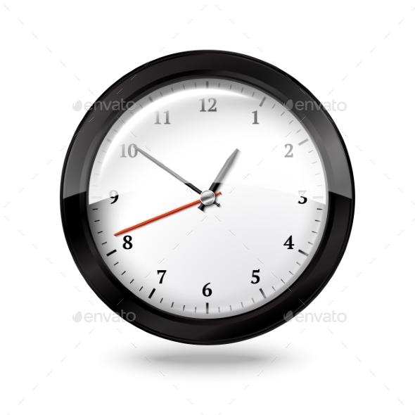 GraphicRiver Black Office Clock 9624659