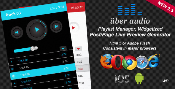 Uber Audio Wordpress plugin