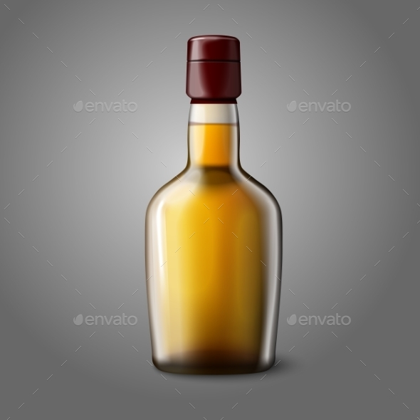 GraphicRiver Blank Realistic Whiskey Bottle 9624716