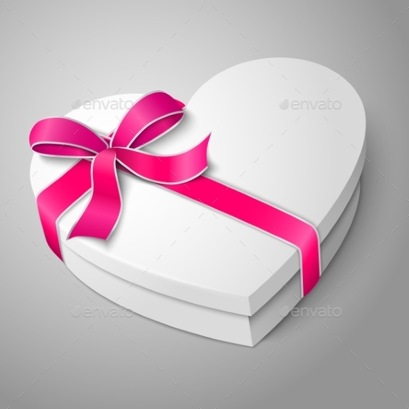 GraphicRiver White Heart Shape Box 9624718