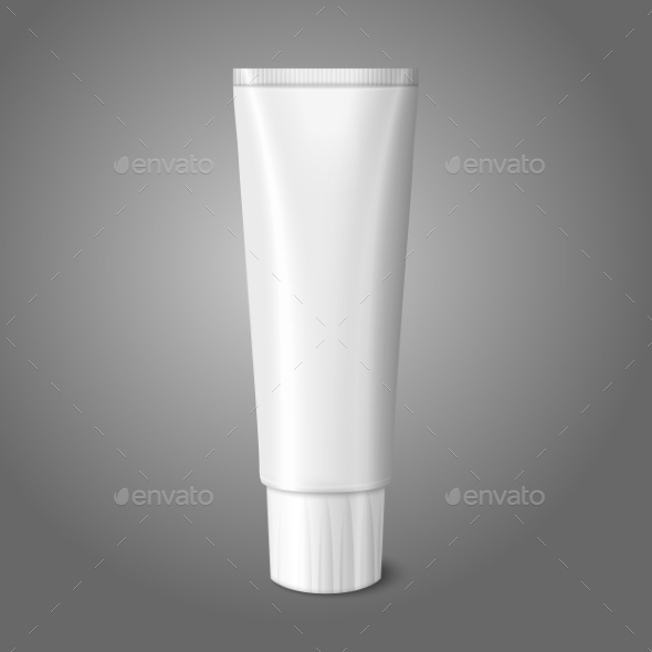 GraphicRiver Blank White Realistic Tube for Toothpaste 9624724