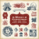 Vintage Christmas Set - GraphicRiver Item for Sale