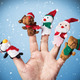 Christmas toys put on a hand - PhotoDune Item for Sale