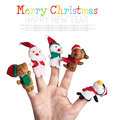 Christmas toys put on a hand on a white background - PhotoDune Item for Sale