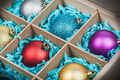 Christmas-tree balls in a wooden box - PhotoDune Item for Sale
