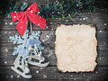 Christmas wooden toys and old Paper - PhotoDune Item for Sale