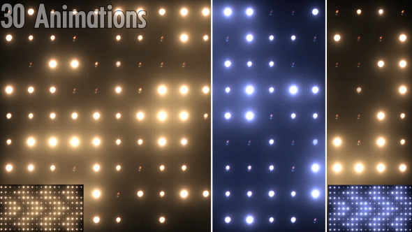 VideoHive VJ Flashing Lights Wall Blinking Spotlight stage 9625381
