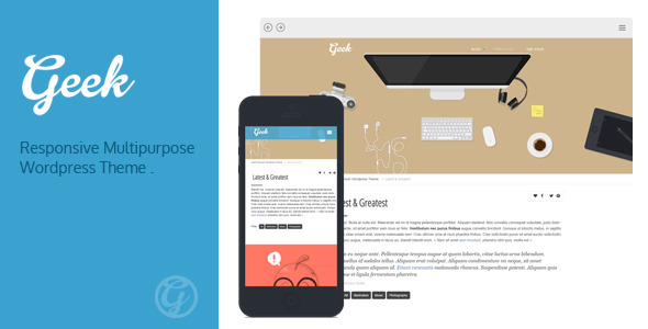 Geek - Responsive Flat Portfolio WordPress Theme