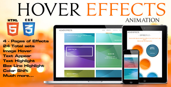 CodeCanyon 39 Hover Effects 9625862