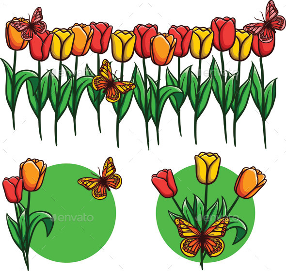 GraphicRiver Tulips 9626356