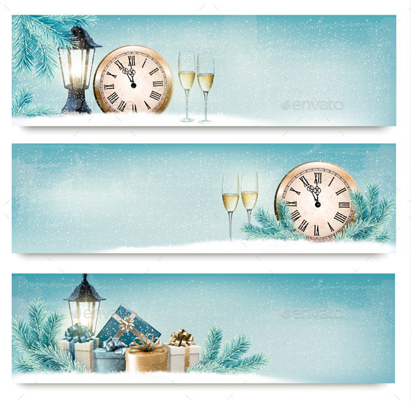 GraphicRiver Three Christmas Backgrounds 9626556