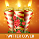 Christmas Candles Twitter Cover - GraphicRiver Item for Sale