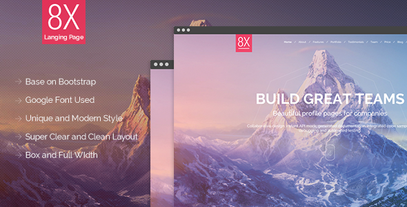 ThemeForest 8X Super Landing Page 9626593