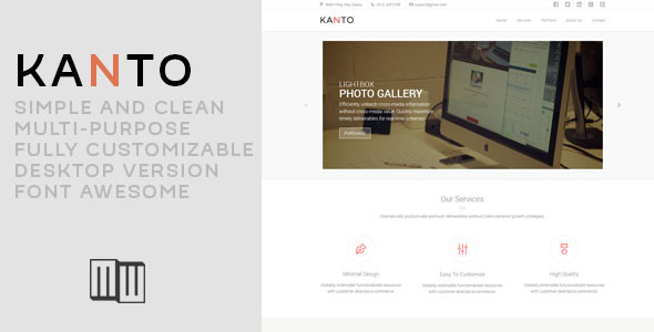 ThemeForest Kanto Corporate Muse Template 9626603