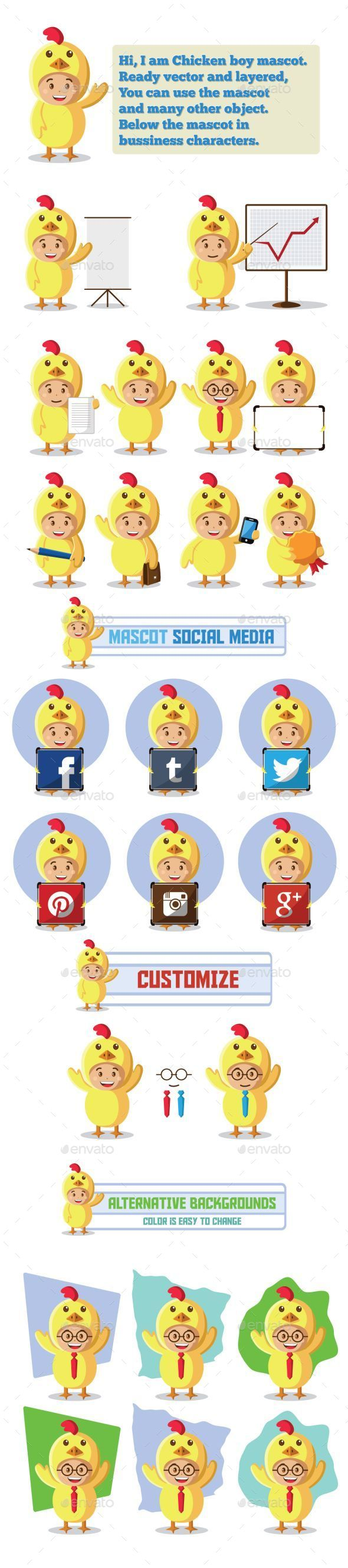 GraphicRiver Chicken Mascot Character 9626659
