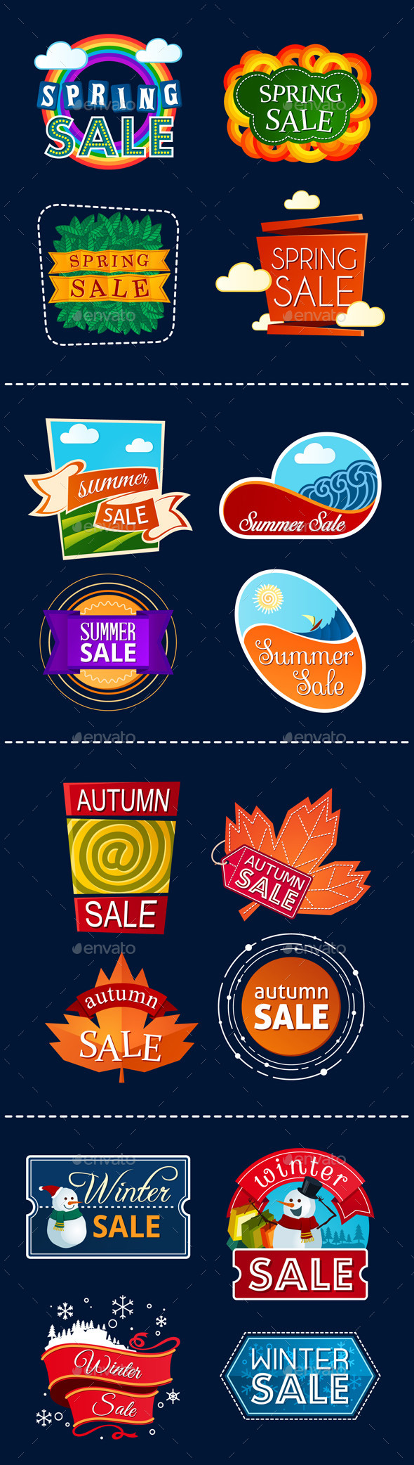 GraphicRiver Various Seasonal Sale Event Title 9626726