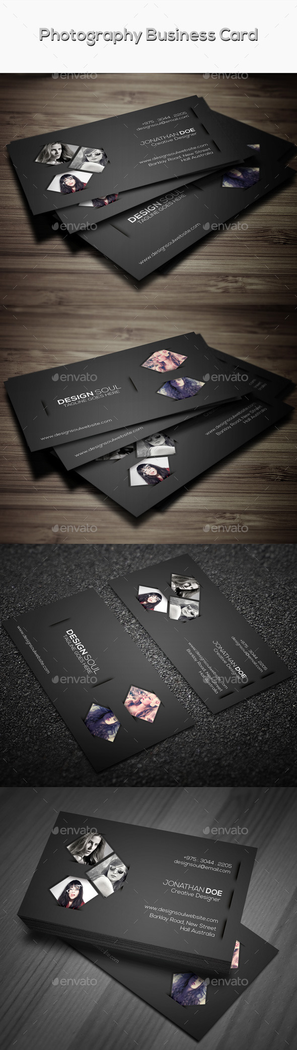 GraphicRiver Photography Business Card 9626881