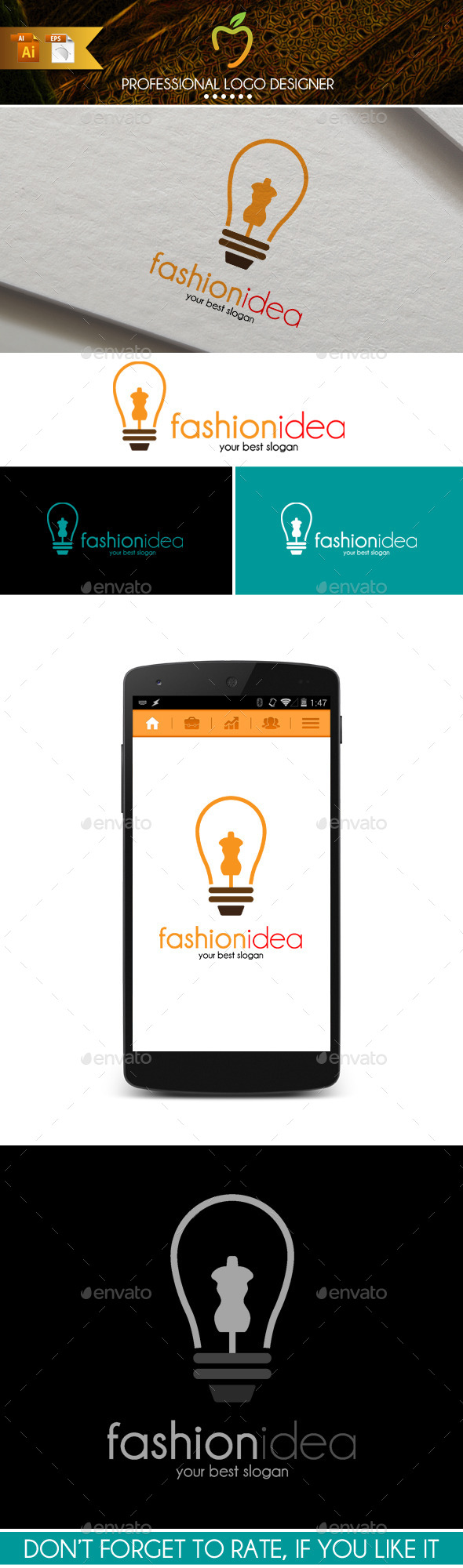 GraphicRiver Fashion Idea Logo 9626889