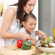 Mother and Daughter Preparing a Salad - VideoHive Item for Sale