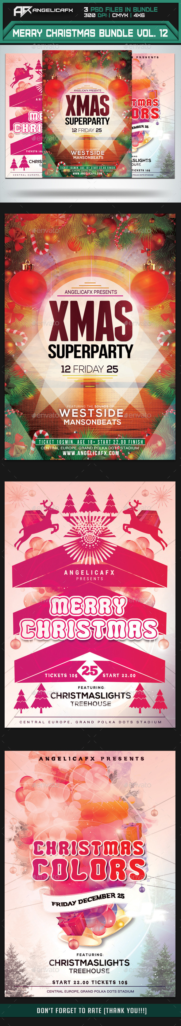 GraphicRiver Merry Christmas Flyer Bundle Vol 1 9626945