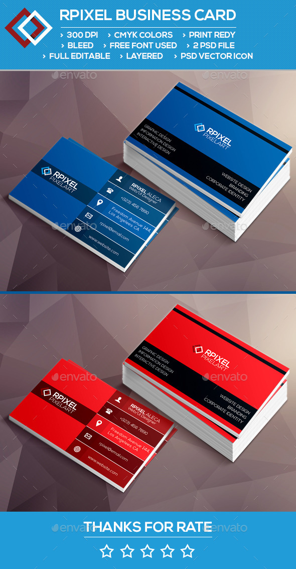 GraphicRiver Rpixel Business card 9626971